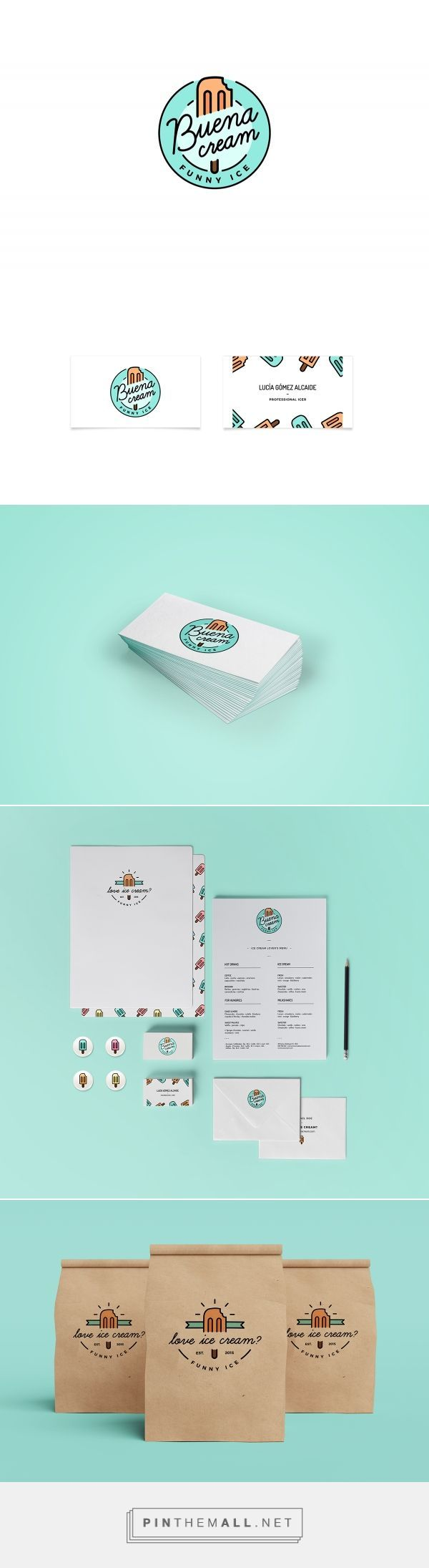 Buena Cream Ice Cream Shop Branding by Lucia Gomez