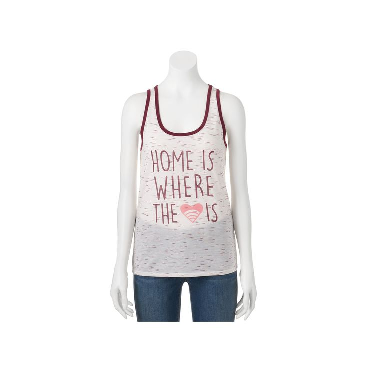 """Juniors' THE Print Shop """"Home Is Where The Wifi Is"""" Graphic Tank, Teens, Size: Medium, Red"""