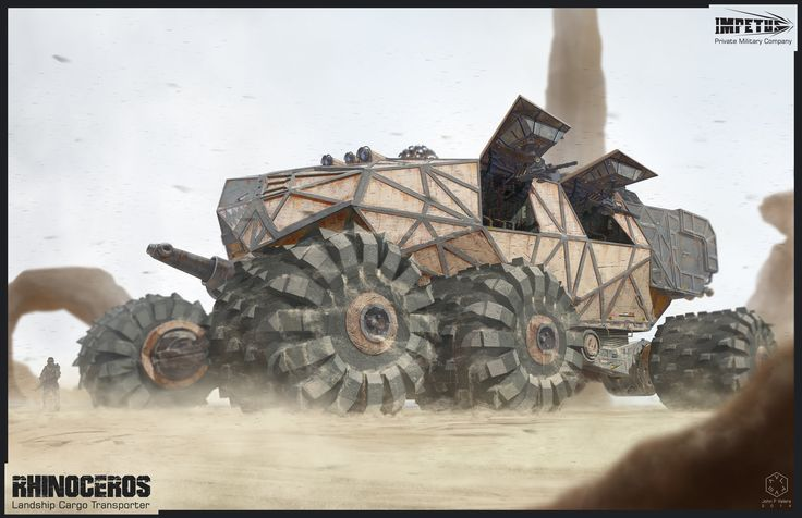 ArtStation - Rhinoceros Landship Cargo Transport, John F Valera
