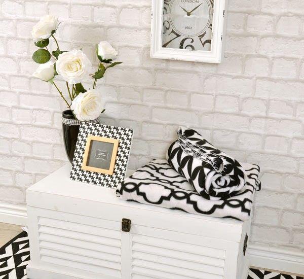 KOC, PLED BLACK&WHITE - 2 - Stylowe dodatki do domu - Artykuły dekoracyjne do domu, wyposażenie wnętrz, sklep DekoracjaDomu.pl