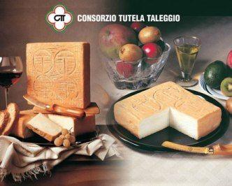 TALEGGIO DOP Il Taleggio è un formaggio di origini antichissime, forse anteriori al X secolo. Documenti risalenti al 1200 fanno riferimento ai commerci e agli scambi di cui era oggetto il Taleggio, insieme ad altri formaggi. La zona d'origine è la Val Taleggio, da cui deriva il nome del formaggio, in provincia di Bergamo.