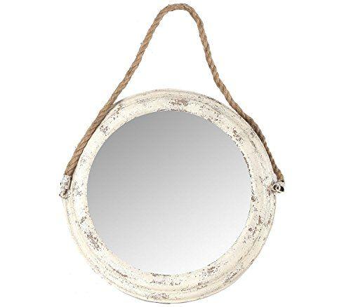 Espejo Redondo en Blanco Decapado 41cm diámetro Hogar Decora http://www.amazon.es/dp/B00PJ3GMP0/ref=cm_sw_r_pi_dp_q1Ivvb1PYF4WP