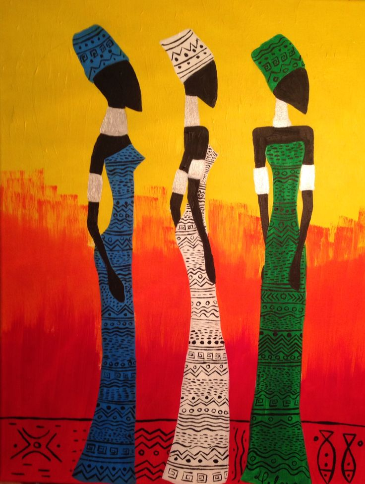 Africanas painting by Daniell Peloso