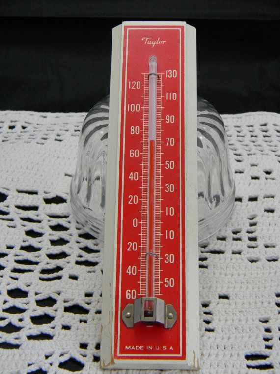 Vintage Taylor Made in USA thermometer on wood   Taylors