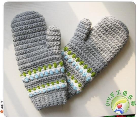 Вязаные крючком перчатки   Лаборатория домашнего хозяйства