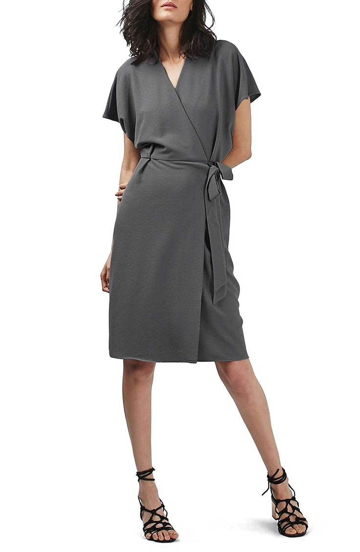 topshop grey crepe wrap dress | AVE STYLES PERSONAL FAVES ...