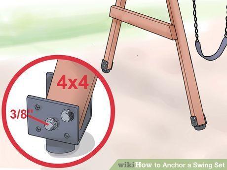 Anchor a Swing Set Step