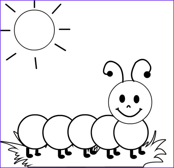 45 Awesome Photos Of Caterpillar Coloring Page Coloring Sheets For Kids Easy Drawings For Kids Drawing Tutorials For Kids