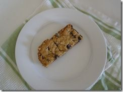 clean granola bars.  have made them twice and they rock.  Once they were done excatly as said.  the second time i didnt have the choc chips but they are still great.  They are chewy like the quaker oats bars.  boys love them too!