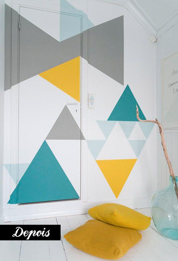 Como fazer uma pintura geométrica - dcoracao.com - blog de decoração