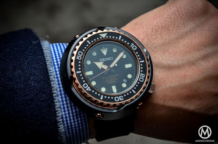 Seiko Marinemaster 1000m Emperor Tuna Rose Gold SBDX014 – The 50th Anniversary Celebration Watch – Specs and Price | https://monochrome-watches.com/seiko-marinemaster-1000m-emperor-tuna-rose-gold-sbdx014-50th-anniversary-price/