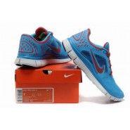 Original Nike FREE Run 3 Herr Löparskor blå Glow Pure platina universitet Röd