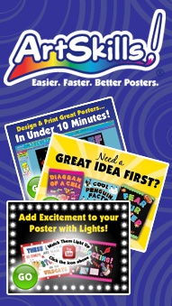 Search thousands of poster ideas in our online Poster Idea Gallery. You can search by school subject such as science posters or history posters or search by poster topic like science fair, lemonade stand or bake sale. If you need help designing your poster, check out our free online Poster Maker!