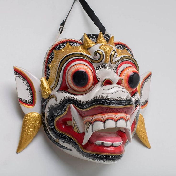 Hanuman Masterpiece - Handcrafted wood mask from Bali. Spiritual decoration for unique places… #art #bali #balinese #handcrafted #mask #wood #hanuman