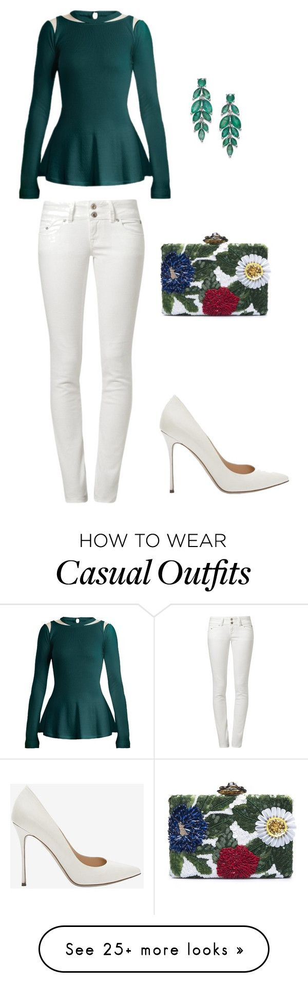 """Office Casual"" by carlafashion-246 on Polyvore featuring Oscar de la Renta, Sergio Rossi and LTB"