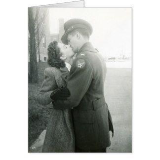 Beijando o cartão do casal