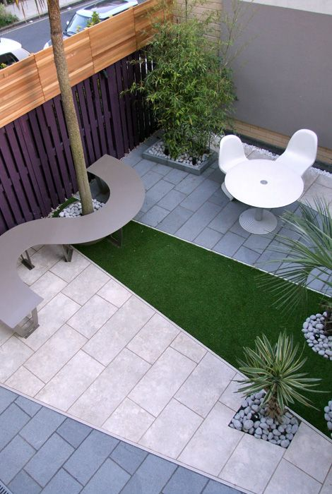 gardens and roof terraces with artificial grass pattern: