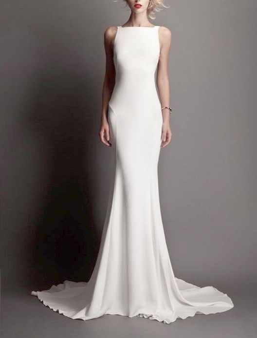 Astounding Short Wedding Dress With Long Sheer Overlay Tight
