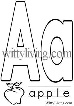 Free Printable Coloring Page Letter A