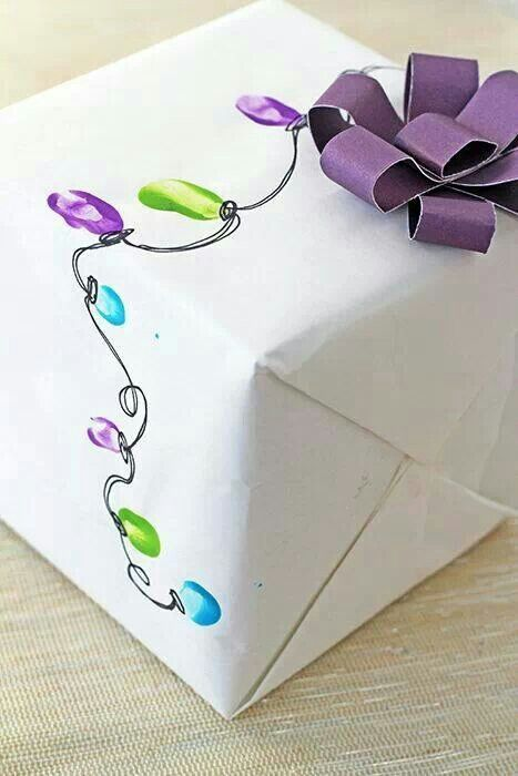 Kids finger print wrapping paper