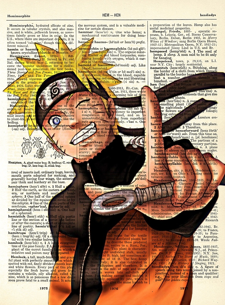 Naruto Uzumaki from Naruto Vintage Dictionary Art Print 8 x 10 - With Three Printing Options BUY 2 GET 1 FREE. $8.00, via Etsy.