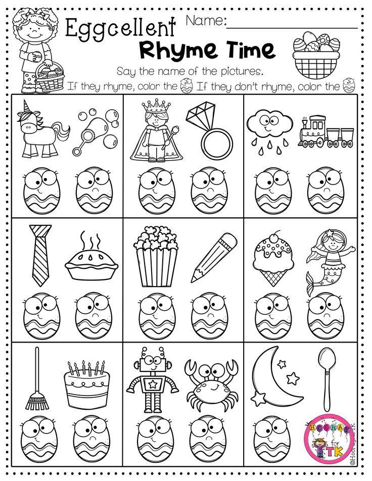 23++ Pre k rhyming worksheets Information