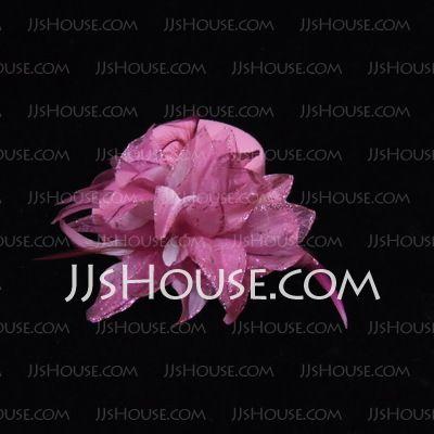Hoofddeksels - $5.99 - Schitterend Veer/Satijn (042038372) http://jjshouse.com/nl/Schitterend-Veer-Satijn-042038372-g38372