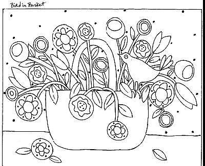 Alfombra De Enganche Artesanía Papel Patrón Pájaro en cesta abstracto arte popular Karla Gerard | Artesanías, Artesanías con agujas e hilos, Fabricación de tapetes | eBay!