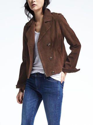 Brown Suede Moto Jacket