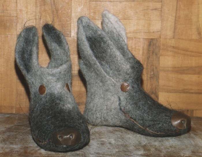 Alexander Pilin children's valenki, felt boots - wolf :)