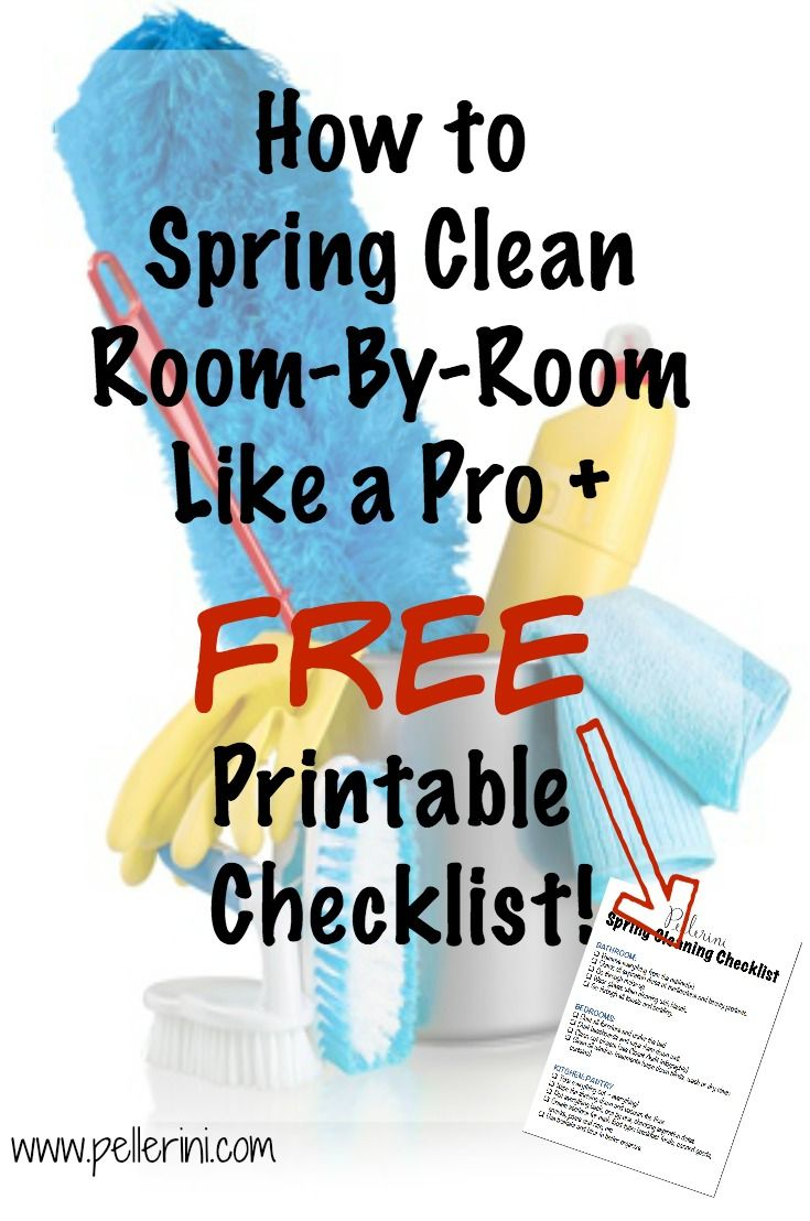 How to Spring Clean room by room like a pro and a FREE printable checklist!