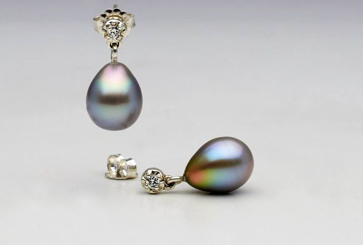 One of a kind Sea of Cortez pearl earrings!!  Coming soon to Pure Pearls…