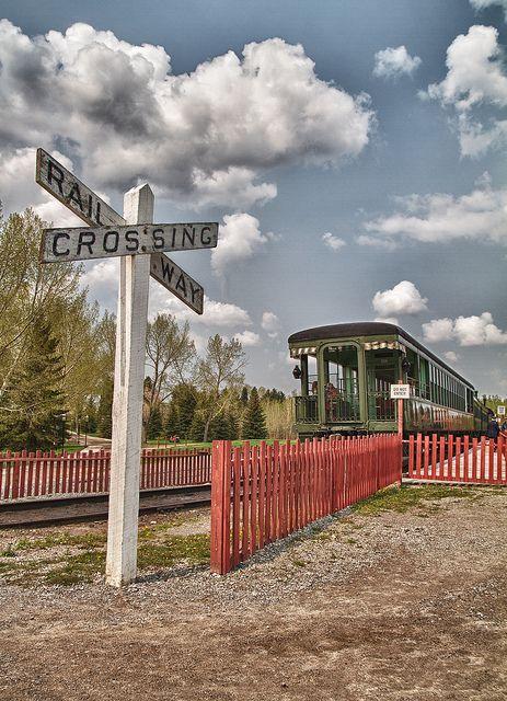 Railway Crossing at Heritage Park - Calgary, Alberta, Canada