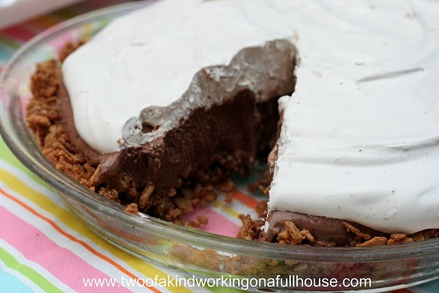 Malted Ice Cream Pie Made With Ovaltine