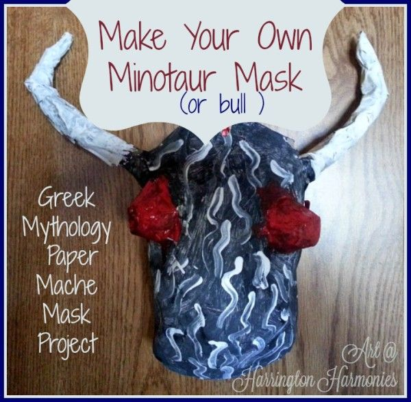 Make your own minotaur mask- Greek Mythology craft for Theseus and the MInotar