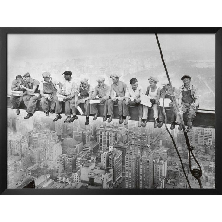The fearless, and some might even say adrenaline junky photographer (and pilot, racecar driver, wrestler and hunter), Charles Ebbets, is the genius behind this world-renowned Lunch Atop a Skyscraper c.1932 Art Print. This New York picture and the nearly 300 similarly disorienting photos that that were published in the New York Herald Tribune. Enjoying a relaxed lunch upon the I-beams of a New York skyscraper, these insanely brave construction workers represent the gumption and risk-taking…