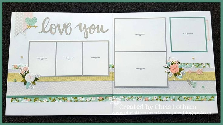 Love You: Scrapbook Layout by Chris Lothian.  Mixing and matching the Close To My Heart product range...Hello Lovely and a little Sugar Rush make a great pair