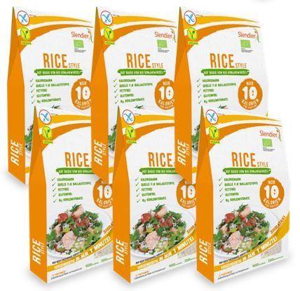 6 x Slendier Rice-Style aus Konjak 400g ATG 250g