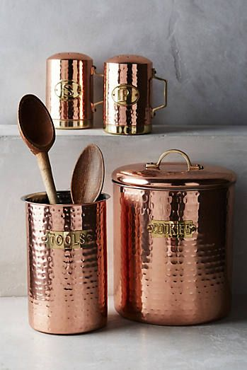 Hammered Copper Cookie Jar