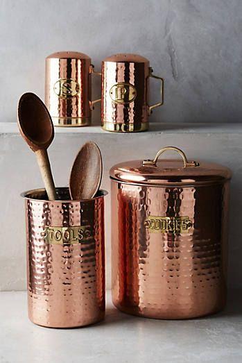 Coleção de cobre martelado