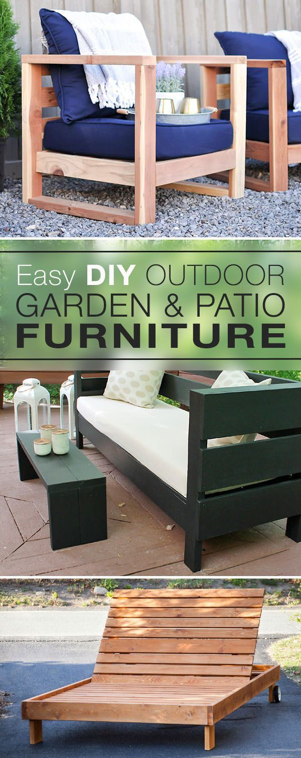 Einfache DIY Outdoor Gartenmöbel & Patio