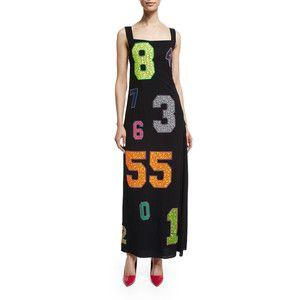 Libertine Number-Embellished Vintage Chanel Dress