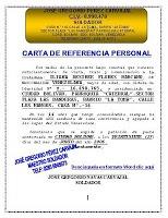 Carta de Recomendación Personal : FORMATOS Y MODELOS LEGALES