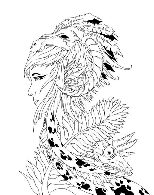 "mother nature coloring pages | 127 beste afbeeldingen over iColor ""The Magic"" op ..."