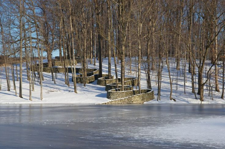 """Andy Goldsworthy Storm King Wall, 1997–98 Fieldstone Approx. 60"""" x 2,278'6"""" x 32"""" overall"""