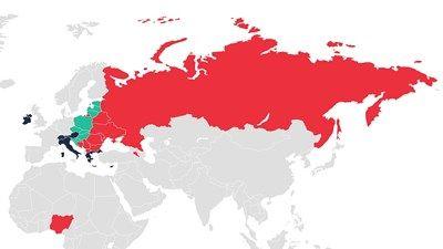 Coca-Cola HBC map of operations