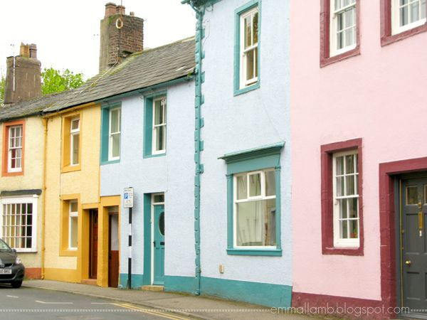 18th century colourful cottages & townhouses in Cockermouth, Cumbria / The Lake District, UK | Emma Lamb