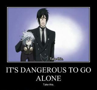 Black Butler ~ Pluto in clothing is cute, too.