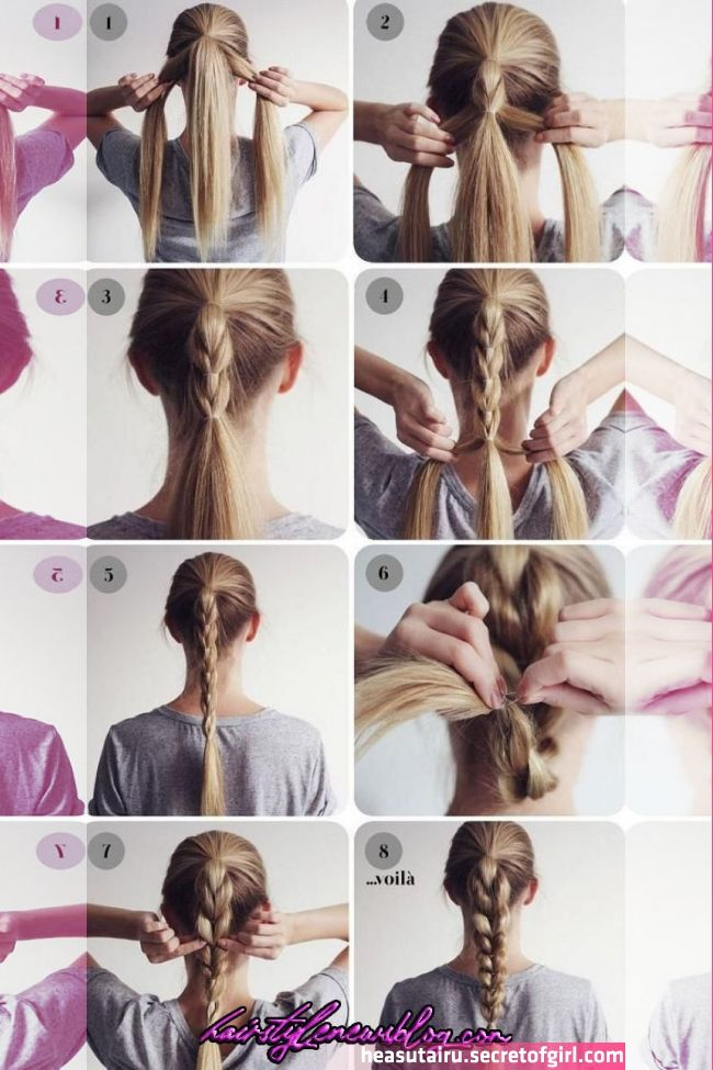 25 Easy Hairstyles For Long Hair In 2020 Easy Hairstyles For Long Hair Long Hair Styles Braided Hair Coiffure Facile Coiffure Cheveux Long Style De Cheveux