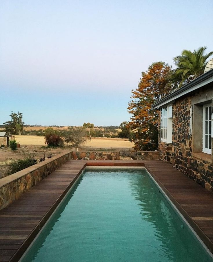 A New Pool And Garden Renovation For This Stone Farmhouse In Rural Western Australia